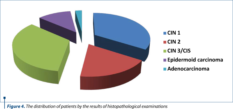 Figure 4. The distribution of patients by the results of histopathological examinations