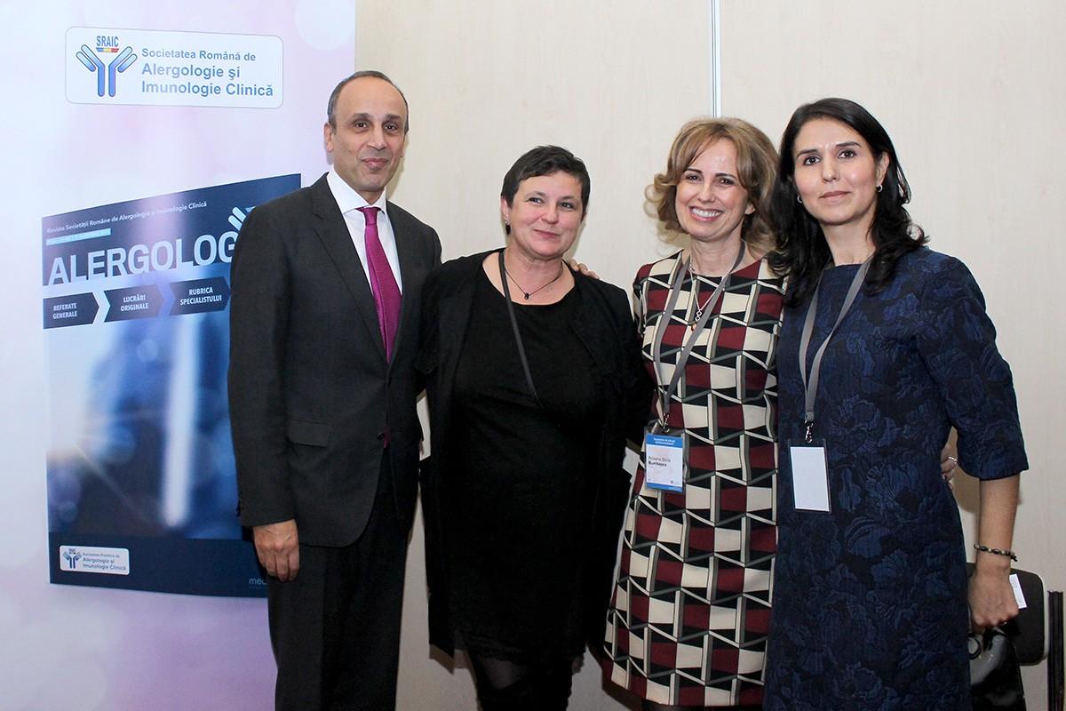 Dr. Wargha Enayati, dr. Simona Melnic, conf. dr. Roxana Bumbăcea și dr. Cristina Vlaicu