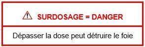 """""""Supradoză = Pericol. Depăşirea dozei recomandate vă poate afecta ficatul"""""""